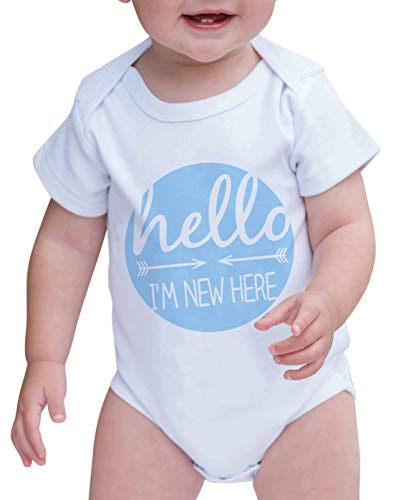 Custom Party Shop Baby Boy's I'm New Here Onepiece 0-3 Months Blue -