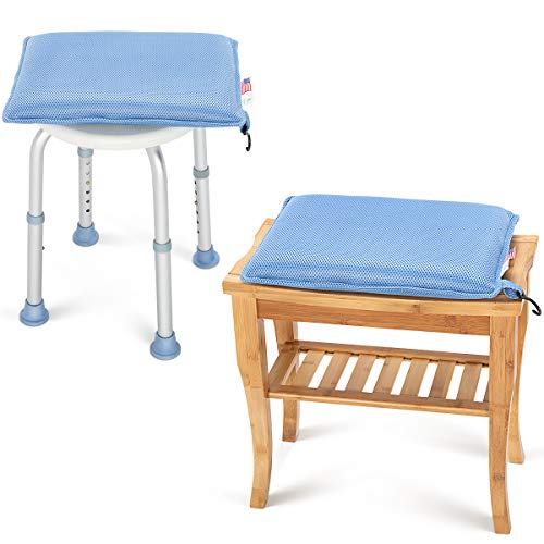 OasisSpace Shower Chair Cushion, Transfer Bench Shower Stool Bath Seat Cushion for Elderly, Senior, Handicap & Disabled, Soft
