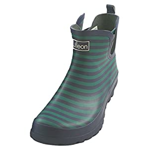 Jileon Ankle height Rubber Rain Boots For Women - Wide In The Foot and Ankle