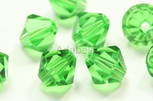 100 4mm Adabele Austrian Bicone Crystal Beads Fern Alternative For Swarovski Preciosa Crystalized 5301/5328 (Emerald Jasper Bracelet)