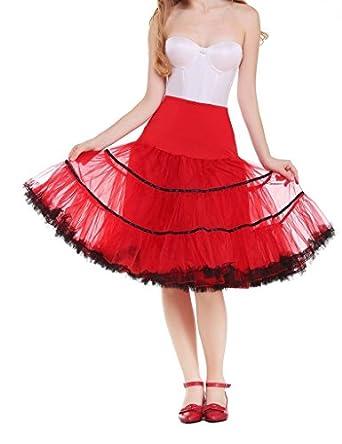 63784ef9a9b0 DaisyFormals® Women's Vintage Rockabilly Petticoat 50s Puffy Tutu  Underskirt 4 Colors- ...
