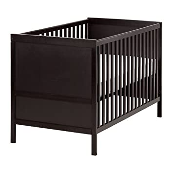 Ikea Sundvik Crib Black Brown