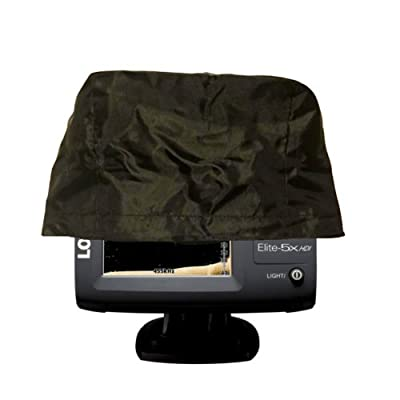 "2 Pack Fishfinder, Depth Finder Poly Sun Cover for 5"" Models - Protects Your Screen From Sun / Weather Damage with Drawstring"