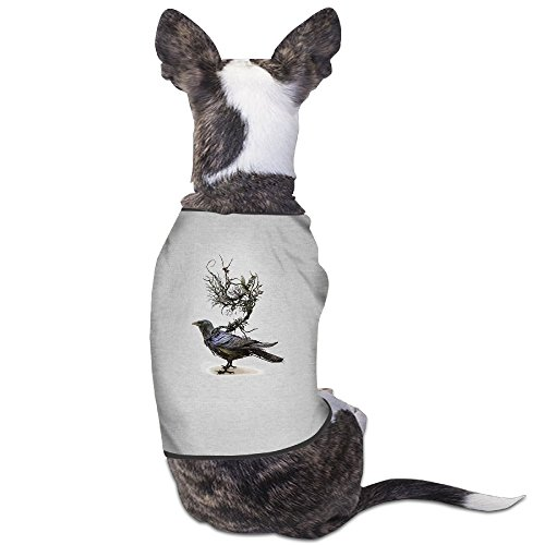 Halloween Crow Costume (Yo Ou Crow Bird Cute Sleeveless Costume Dogs Cats Pet Doggy Sports Clothing Vest T Shirt)
