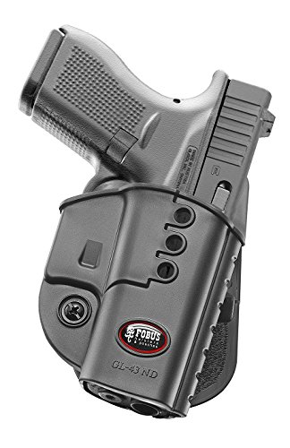 Fobus Tactical Right Hand GL-43 ND Glock 43 Paddle Holster