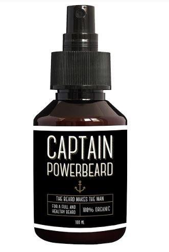 Beard oil for beard growth by CAPTAIN Powerbeard   Organic Beard care 100ml spray   Alternative to Beard conditioner, Beard wax & Beard cream Vivere GmbH