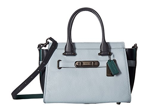 COACH Women's Coach Swagger 27 In Colorblock Leather Dk/Pale Blue/Navy/Dk Turquoise One Size