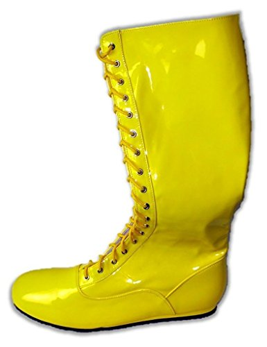 Pro Wrestling Costume Boots (Medium Yellow)