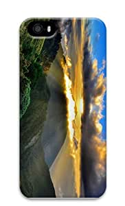 customized case mountains clouds sundown PC Case for iphone 5/5S