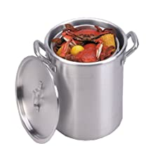 King Kooker KKA22 22-Quart Aluminum Boiling Pot with Basket
