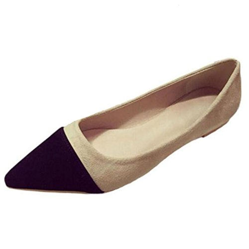 f2ae357842402 free shipping COVOYYAR Women's Elegant Contrast Color Pointed Toe ...