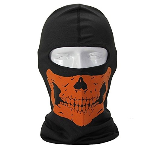 [1PLUS Cool Bike Skateboard Hood Cos Terrorists Costume Face Skull Ghost Mask Mask] (Terrorist Costumes)