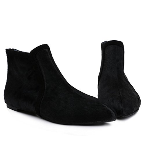 Cachemire Le con Stivaletti caviglia alla piattaforme 32 piatto Da donna BLACK Stivali Stivali signore femminili black Appartamento 33 appuntito FPYP8Iqwx