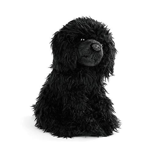 DEMDACO Loyal Poodle Curly Fuzzy Black 10 inch Plush Fabric Stuffed Figure Toy -