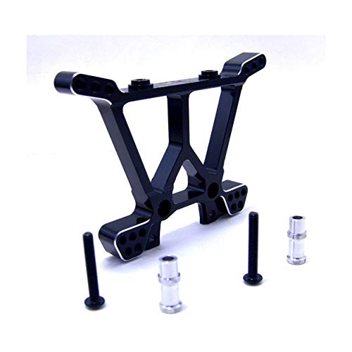 Hot Racing SLF3001 Black Aluminum Rear Shock Tower for the Traxxas Slash 4x4, ()