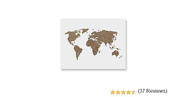 Mapa del mundo plantilla para – corte láser mapa del mundo ...