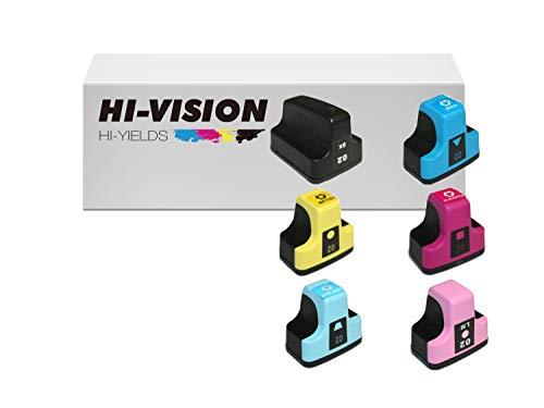 HI-VISION HI-YIELDS Compatible Ink Cartridge Replacement for HP 02 (1 Black 1 Cyan 1 Yellow 1 Magenta 1 Light Cyan 1 Light Magenta, 6-Pack) ()
