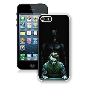 Custom Best Design Joker White iPhone 5 5S Case