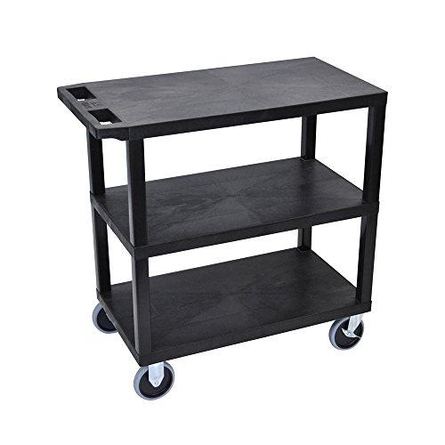Flat Shelf Utility Cart - Luxor EC222HD-B 32