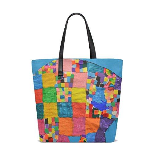 femme unique Taille ISAOA multicolore Cabas pour tote 001 wqxw70R4I