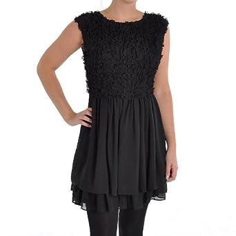 3e0e6fdd6 Ted Baker Grete Heart Detail Dress In Black - Size 14  Amazon.co.uk   Clothing