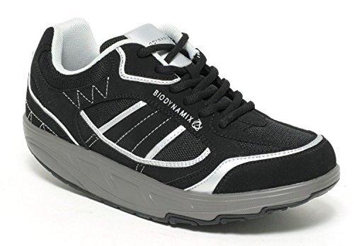 BIODYNAMIX Aktiv Fitness Schuhe Schnürschuhe COLOUR: BLACK/SILVER (41)