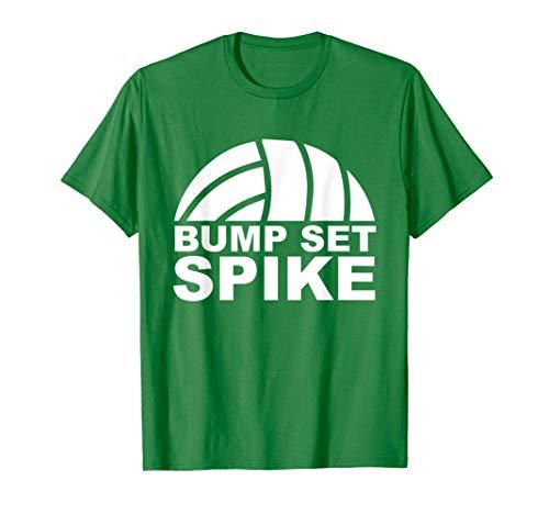 (Bump Set Spike Volleyball Sports T-Shirt )