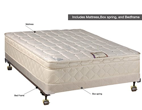 Continental sleep fully assembled orthopedic pillow top for How long does a spring mattress last