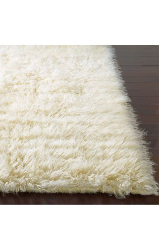 Flokati Area Rug 5x7 Natural Wool White Heavy Soft Shag Carpet