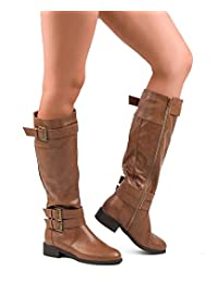 ROF Madison-11 Riding Boots (Tan PU Size 8 )