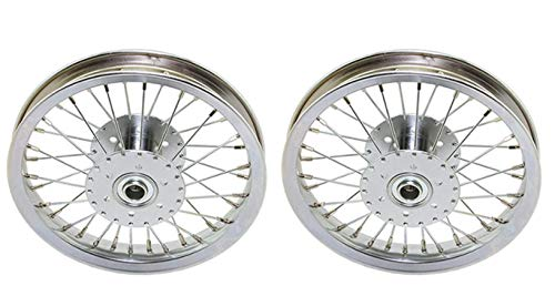 "Lowrider 2 Wheels. Two Wheels Set of 12 Hollow-Hub Wheel 36 Spoke 14gUCP Bearing 3/4"" idx1-3/8 od Chrome. for Trike, tricycles."