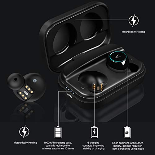 2d006490870 Wireless Earbuds, MYCARBON Latest Bluetooth 5.0 True Wireless Earphones 35H  Playtime Hi-Fi 3D Stereo Sound IPX7 Waterproof In Ear Sport Headphones with  3 ...