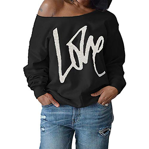 Women's Sweatshirt, FORUU Fashion Sexy Letter Long Sleeve Tops Blouse Pullover -