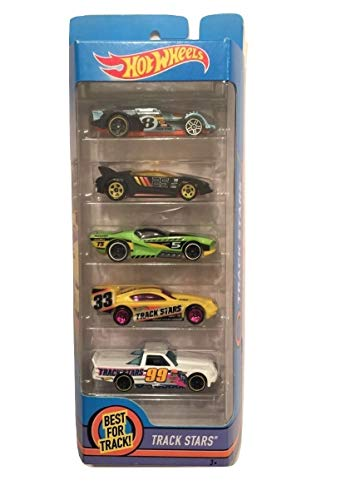 Hot Wheels 2017 Track Stars 5-Pack ~ Epic Fast, Quick n' SIK, Street Shaker, Time Tracker, Circle Trucker (All Part of The HW Racing Team)