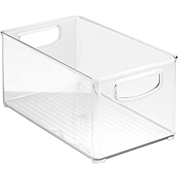 InterDesign Refrigerator, Freezer and Pantry Storage Container – Food Organizer Bin for Kitchen, Clear