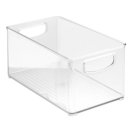 "InterDesign Home Kitchen Organizer Bin for Pantry, Refrigerator, Freezer & Storage Cabinet, 10"" x 5"" x 6"", Clear"