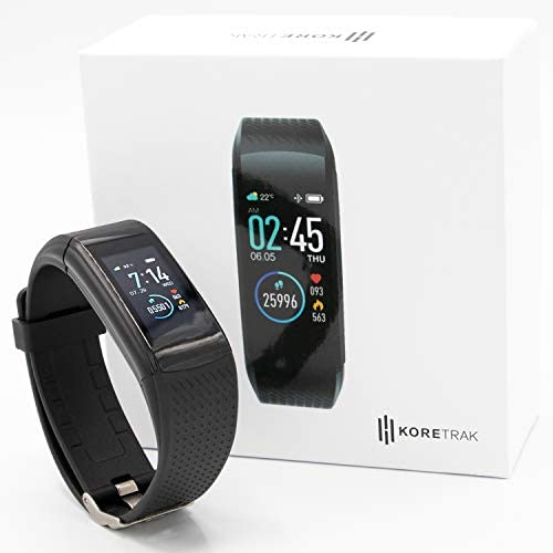 KoreHealth Smart Watch Fitness Tracker - KoreTrak Fitness Tracker Health Watch with Blood Pressure and Heart Rate Monitor | Activity Tracker and Fit Step Counter GPS Fitness Tracker Watches
