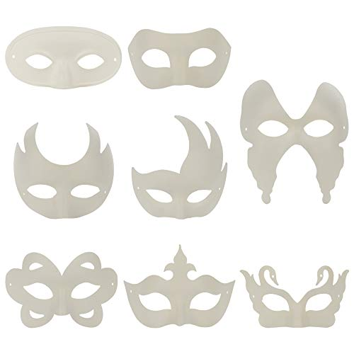 T-REASURE 8PCS White Paper Mask, Unisex Half Face