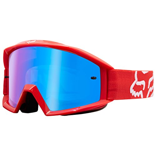 Fox Racing Main Race Adult MX Motorcycle Goggles Eyewear - Red / No (Fox Goggles)