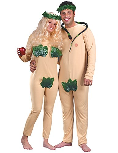 Adam And Eve Adult Costumes (Adam & Eve Costume - Standard - Chest Size 33-45)