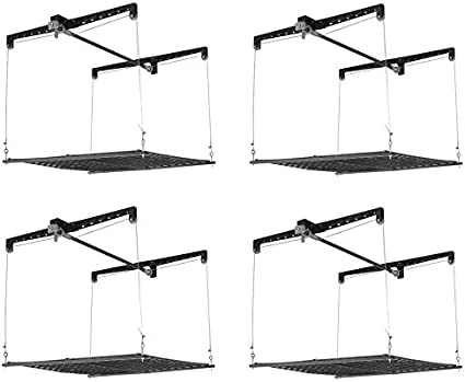 Racor PHL-1R Pro HeavyLift 4-by-4-Foot Cable-Lifted Storage Garage Overhead Rack