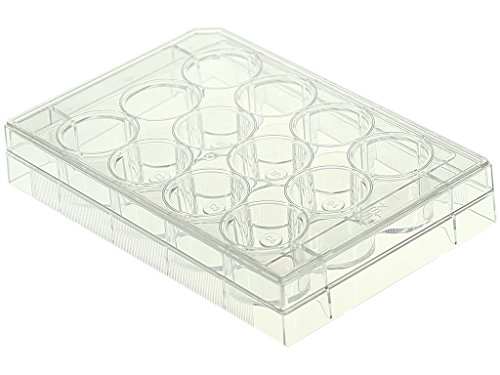 Culture Cell Plates (Nest Scientific 712011 Polystyrene 12 Well Cell Culture Plate, Flat Bottom, Non-Treated, Sterile, Clear, 1 per Pack, 50 per Case (Pack of 50))