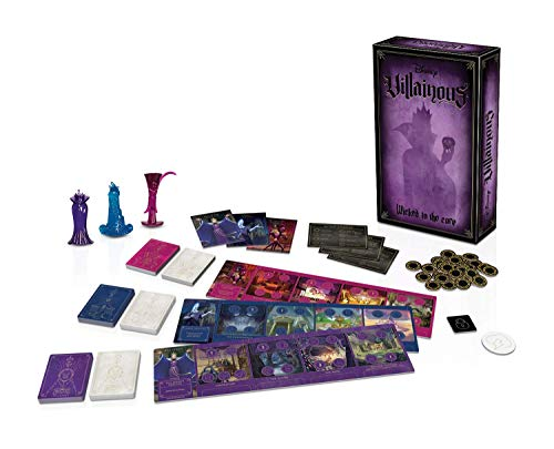 [해외]Villainous: Wicked to The Core 게임 소프트웨어 / Ravensburger Disney Villainous: Wicked to The Core Strategy Board Game for Age 10 & Up - Stand-Alone & Expansion to The 2019 Toty Game of The Year Award Winner