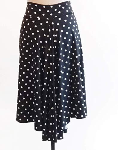 Impresionante falda de tango Patrón de lunares en cascada falda de ...