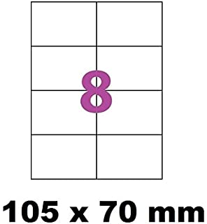 100 A4 hoja 8 pegatina 105 x 70 mm etiqueta adhesiva etiqueta de ...