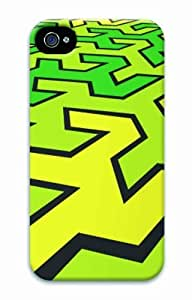 Hot iPhone 4S 3D Customized Unique Print Design Abstract Green New Fashion iPhone 4/4S Cases