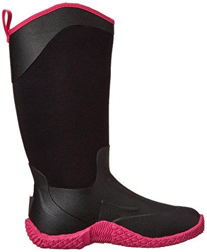 MuckBoots Womens Tack II Mid Equestrian Work Boot Black/Hot Pink niOHsD