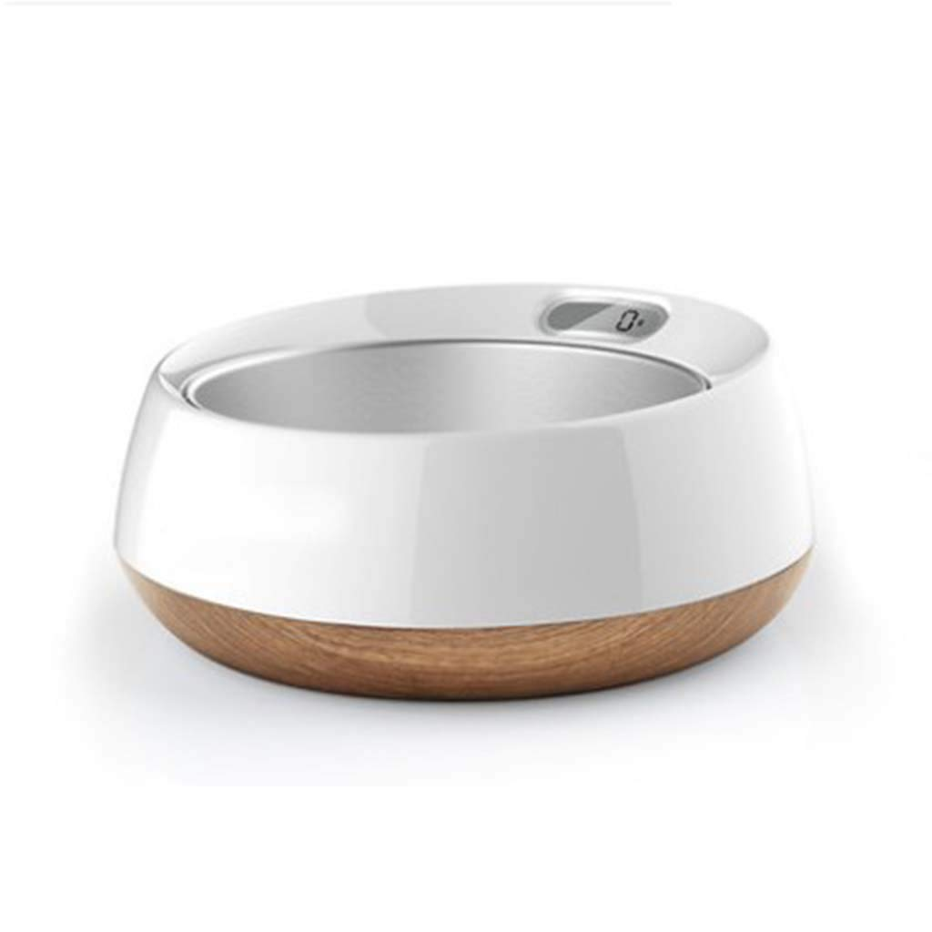 BROWN MiaoMiao Stainless steel weighing smart food bowl in large dogs with golden hair Satsuma large pet bowl (color   BROWN)