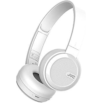 JVC S40BT On Ear Bluetooth Wireless Foldable Headphones with Dynamic Deep  Bass Boost - White cdb69cd28c