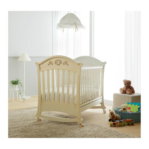 Babybett Kinderbett aus Holz Virgola Doimo Cityline Multicolor KEINE MATRATZE